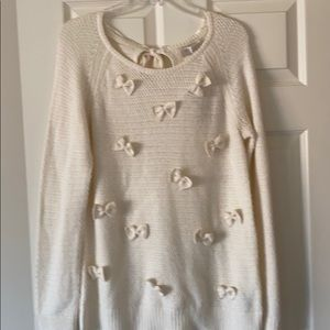 Lauren Conrad sweater bow long sleeve L
